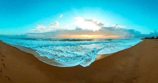 Beach Sunrise Morning Sky Horizon