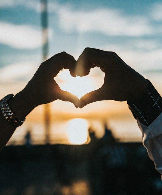 Hands Heart Sunset Love Symbol