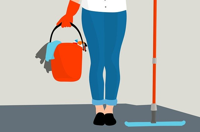 Housekeeping Clean Service Floor
