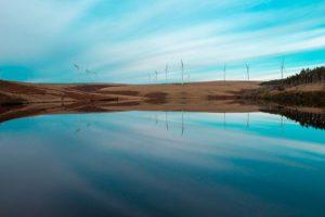 Reservoir Wind Turbines Clean Energy
