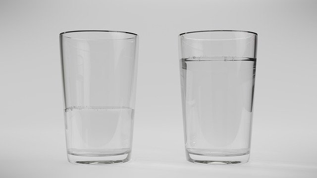 Water Glass Optimist Pessimist
