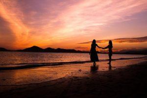 Glow Woman Women S Silhouette Sea