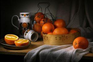 Orange Still Life With Oranges