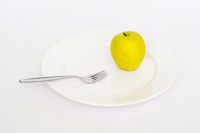 Plate Apple Fork Diet Health