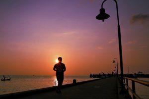 Relax Orange Seaside Jogging