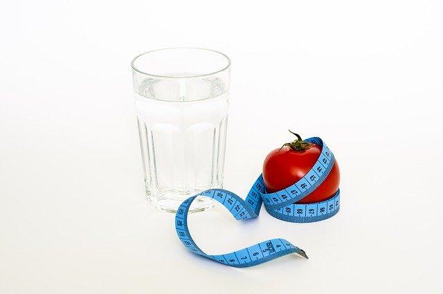 Tape Tomato Glas Diet Water